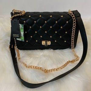 Badgley Mischka Black Quilt&Studded Bag